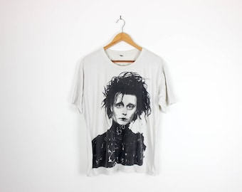 Edward Scissorhands Cult Movie Thrashed Tshirt Johnny Depp Tee XL