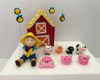 Farm Animals Barnyard Edible  Cake Topper