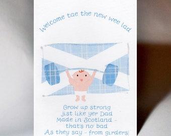 Baby Boy Made in Scotland Card WWBA40