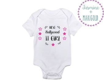 Next Bollywood It Girl onesie or tee for the Pakistani, Indian, or South Asian Baby // Bollywood Kids Styles