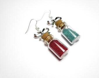 Geek - mana and health potion vials earrings