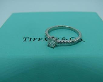 Tiffany & Co NOVO platinum diamond solitaire ring .54ct