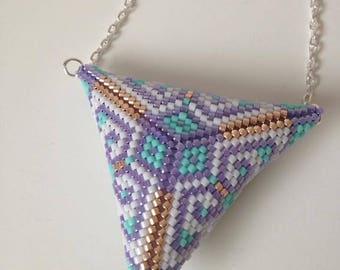 Triangle peyote stitch necklace