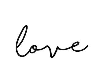 Love Wall Decal ~ Love Wall Sticker~ Nursery Decor ~ Love Typography ~ Wall Stickers ~ Nursery Wall Stickers ~ Wall Decals Nursery