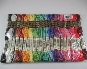 23 DMC cotton embroidery FLOSS, gradient, mottled, multicolored DMC Mouliné.