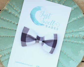 Blue Gingham Bow or Bow-tie