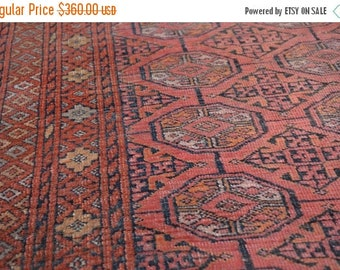 BIG SALE SIZE 3'5 X 9'2 Feet/ Antique Persian Hand Knotted Turkoman Gorgeous Floor rug runner