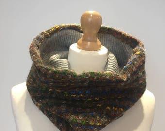 Wool snood scarf