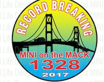 Stickers- RECORD BREAKING 1328 MINI on the Mack vinyl sticker