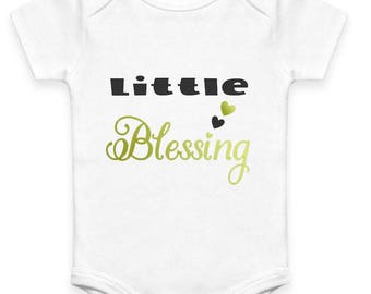 Organic Cotton Little Blessing Onsie