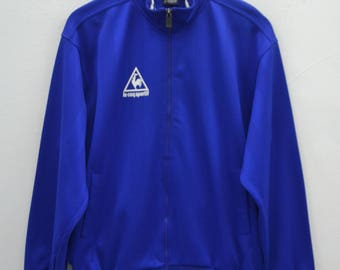 LE COQ SPORTIF Track Top Vintage 90's Le Coq Sportif Spell Out Made In Japan Track Top Zipper Jacket Sweater Size L