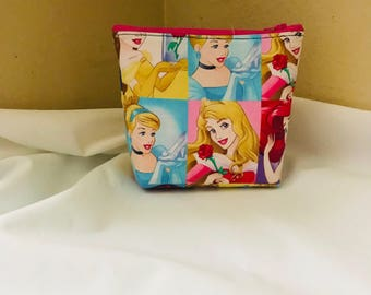 Disney princess block makeup bag