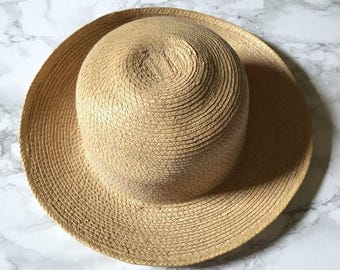20% OFF SALE... sand bowler hat | natural straw bowler sun hat