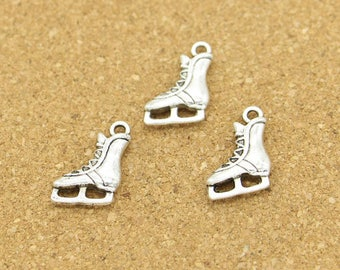 20pcs Skate Charms Skating Charms Antique Silver Tone 19x13mm cf0593