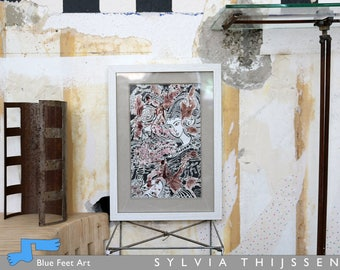 Carmine World, art drawing, Sylvia Thijssen, Dutch Artist