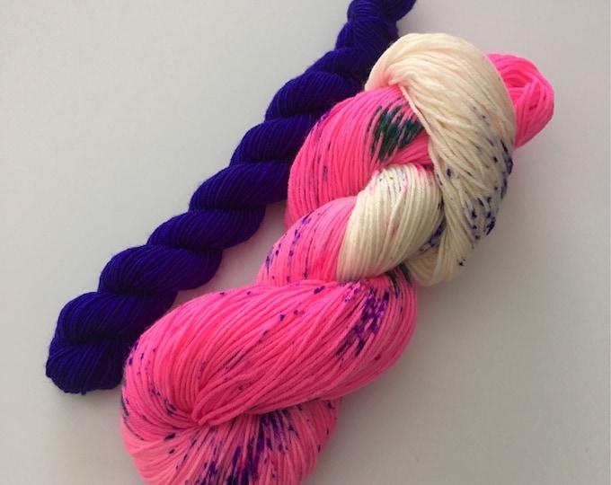 Wool extra fine Merino Nylon Fingering hand dyed
