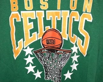 Vintage 80s Boston Celtics dead stock shirt M