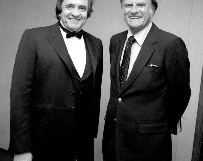 Johnny Cash with Billy Graham - 5X7, 8X10 or 11X14 Publicity Photo (AZ-412)