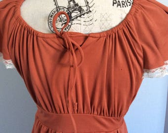 Vintage Dress Orange rust