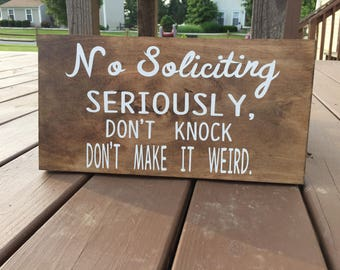 No soliciting door sign, No solicitation sign, Wood Sign, No Soliciting Please, Do Not Disturb sign