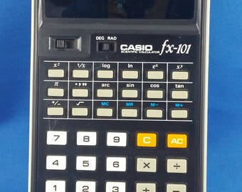Vintage Casio FX-101 Scientific Calculator with Slip Case