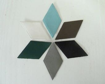 6 diamond fine leather, 6 colors for creation