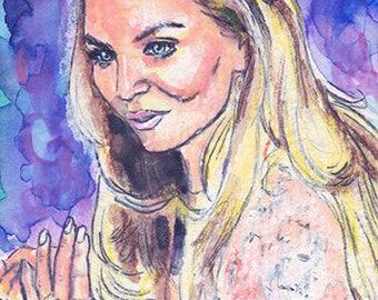 ACEO ORIGINAL Sketch Card Once Upon A Time Emma Swan Jennifer Morrison Portrait
