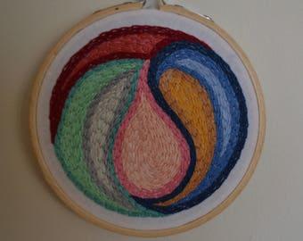 Teardrop Embroidery Abstract II