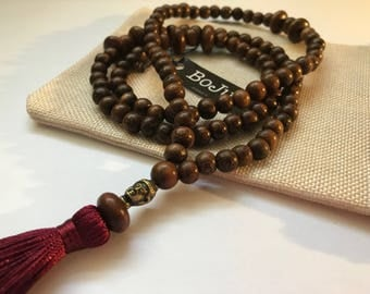 Mala beads - Mala necklace - Mens Mala Necklace - Wooden Mala - 108 Mala - Yoga Beads - Meditation Beads - buddha beads - Prayer Beads