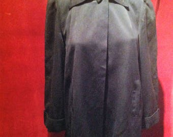 1950s Gaberdine Ladies Swing Jacket / Navy Blue 50s Western Swing Jacket