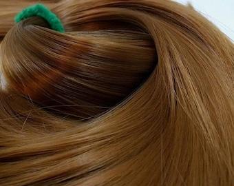 Etsy Celebration Sale Skywalker Golden Brown Nylon Doll Hair Hank for Rerooting for Barbie® Monster High® Ever After High® My Little Pony Fa