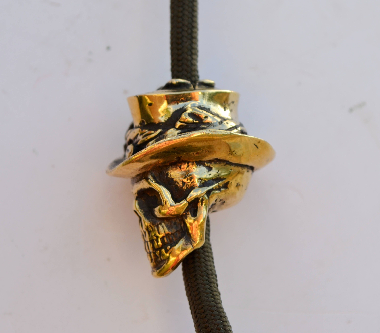 Gentleman bead brass bead for paracord knife lanyard key for Knife lanyard ideas