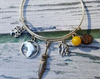 Tarzan and Jane Inspired Charm Bracelet