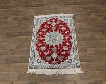 Excellent Classic Floral Handmade Nain Kashmar Persia Rug Oriental Carpet 3X5