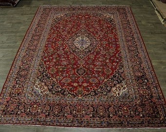 Gorgeous Traditional Handmade Kashan Persian Rug Oriental Area Carpet Sale 10X13