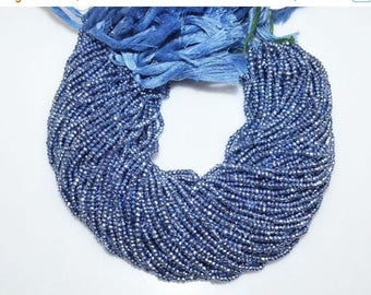"50% OFF 1 Strand Mystic Tanzanite Pyrite Faceted Rondelle Beads , Mystic Pyrite Rondelle Beads , 2.75 - 3 mm , 13"" - MC974"