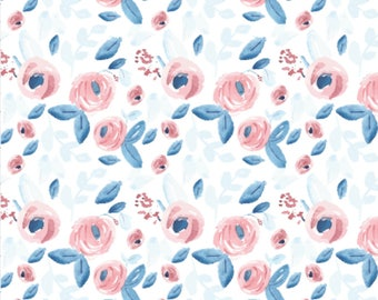Floral Baby Swaddle, Baby Girl Swaddle, Navy Floral Swaddle Blanket, Floral Baby Blanket, Navy and Pink Swaddle, Baby Girl  Bedding, Florals