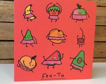 Fru-Tu - Square Greetings Card