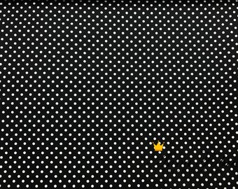 Japanese Fabric   Japanese Cotton Fabric   COSMO TEXTILE    Polka Dot lining fabrics - Black