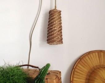 Lamp light rattan