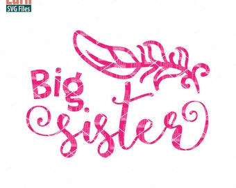 Big Sister svg, Birth Announcement, New born,  feather, Sister, sibling svg,  Family, Family svg, dxf, png, eps