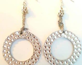 Crown of Elegance Earrings in Sterling Silver