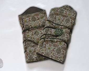 Fingerless gloves, wrist warmers liberty floral