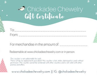 GIFT CERTIFICATE | Gift Card | Baby Shower Gifts | Christmas Gift for Baby | New Mom Gift | Gifts under 25 | Gifts under 50 | Baby Gift Sets