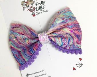 Marbleishous Hair Bow-Hair Accessories-Hair Clip-Girls Hair Bow-Birthday Hair Bow-Girls Gifts-Baby-Girl-Summer Bow