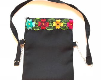 Mexican bag, Mexican embroidered bag, Mexican crossbody bag, Mexican messenger bag, Embroidered clutch, Mexican backpack, Mexican handbags