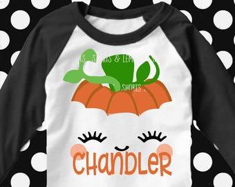 Pumpkin svg, boy halloween, girl Halloween svg, Pumpkin face svg, eyelashes svg, SVG, DXF, Halloween cut file, boys shirt, iron on, print