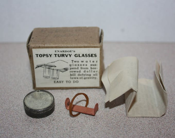 Vintage Enardoe's Topsy Turvy Magician Magic Trick w/ Instructions in box