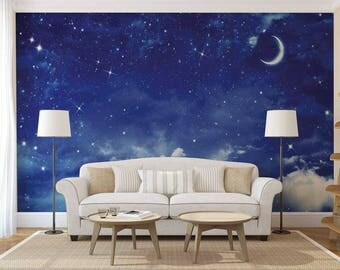 Wall Mural Night, Wall Mural Of The Sky, Stars Wall Mural, Wall Mural Part 88