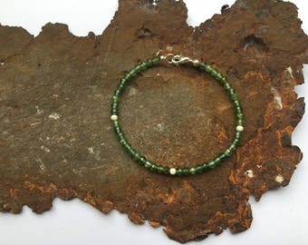 Apatite bracelet with 925 silver elements